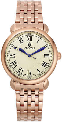 Croton Mens Rose Gold-Tone Bracelet Watch