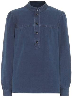A.P.C. Loula cotton chambray blouse