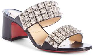 Christian Louboutin Myriadiam Studded Slide Sandal