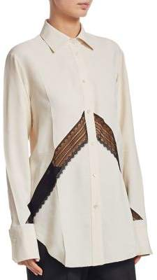 Helmut Lang Chevron Lace Shirt
