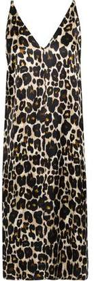 Robert Rodriguez Leopard-print Sateen Slip Dress