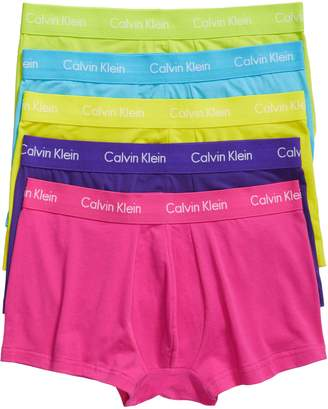Calvin Klein 5-Pack Stretch Cotton Low Rise Trunks