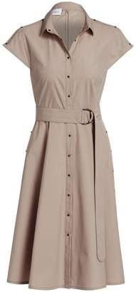 Akris Punto Belted Mini Poplin Dress