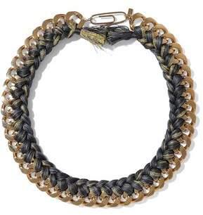 Aurelie Bidermann Brasil Gold-Tone Braided Cord Necklace