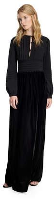 Max Studio crepe and velvet long dress