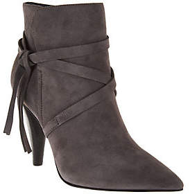 Marc Fisher Suede Pointed Toe Ankle Boots -Fanatic