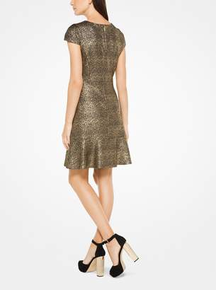 MICHAEL Michael Kors Metallic Foil Print Dress