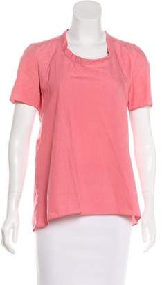 Marni Short Sleeve Scoop Neck Top