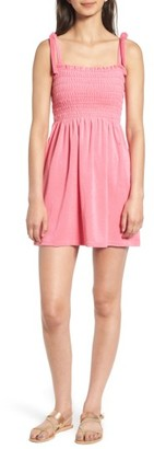 Women's Juicy Couture Venice Beach Microterry Smocked Dress $118 thestylecure.com