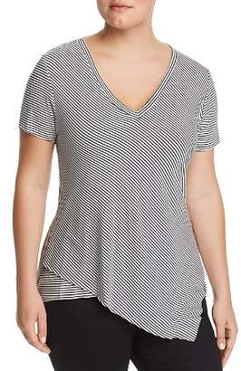 Elan International Plus Striped Layered Tee