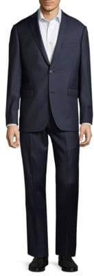 Saks Fifth Avenue Extra Slim Fit Striped Wool Suit