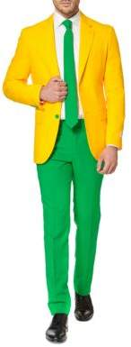 Opposuits Green and Gold Two-Tone Suit