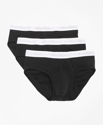 Brooks Brothers Supima Cotton Lowrise Brief-Three Pack