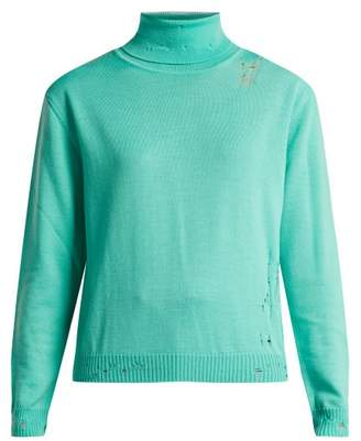 Golden Goose Pyxis Distressed Roll Neck Sweater - Womens - V626