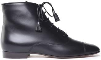 Giorgio Armani Lace-up Point-toe Leather Booties