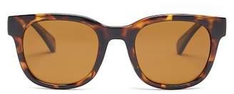 Cole Haan Women's Retro Square Polarized Acetate Frame Sunglasses