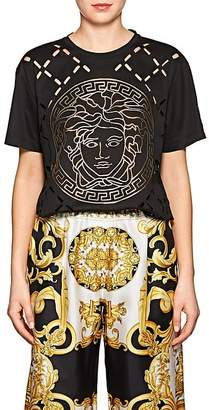 Versace Women's Logo Cutout Cotton T-Shirt