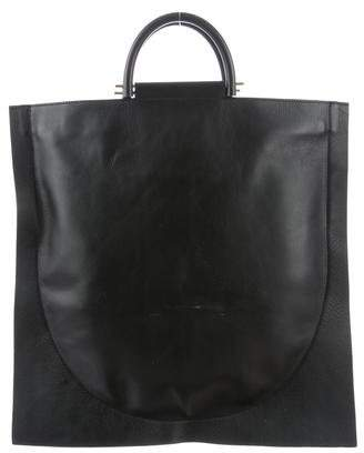 Building Block Leather Flat Tote