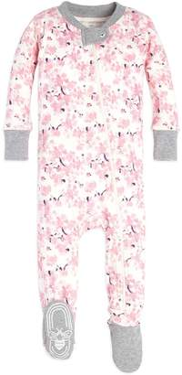 Burt's Bees Waterlily Organic Baby Zip Up Footed Pajamas
