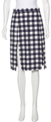Christopher Kane Christopher Kane Gingham Knee-Length Skirt