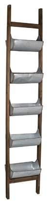 A&B Home 5 Level Ladder Zinc Vertical Garden