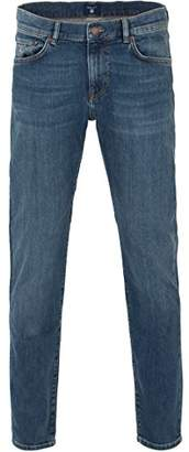 Gant Men's Slim Jean (Mid Worn-in Blue), /34L