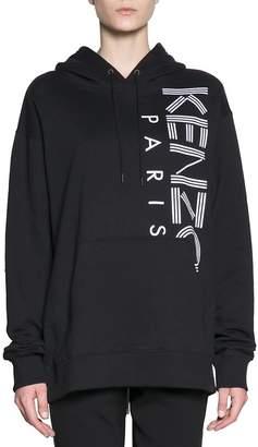 Kenzo Logo Oversized Cotton Sweatshirt