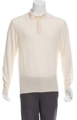 Caruso Cashmere Polo Sweater tan Cashmere Polo Sweater