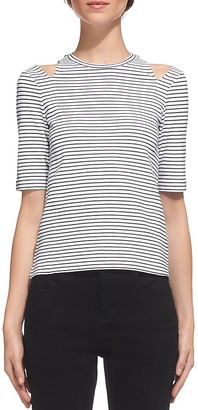 Whistles Cold Shoulder Striped Top $110 thestylecure.com