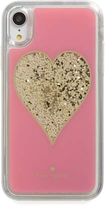 Kate Spade liquid glitter heart iPhone X/Xs/XR & Xs Max case