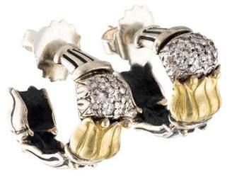 Lagos Caviar Arcadia Diamond Hoop Earrings