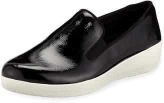 FitFlop Superskate Patent Platform Sneakers