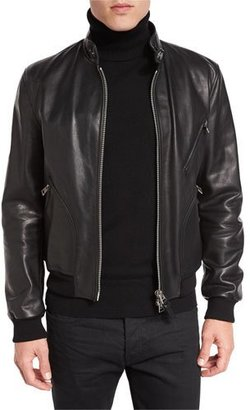 TOM FORD Icon Leather Biker Blouson Jacket $4,990 thestylecure.com