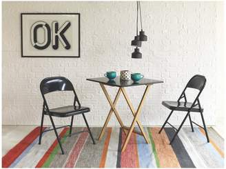 DREW Dining set with folding table and 2 Macadam chairs