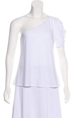 Leith One-Shoulder Short Sleeve Top