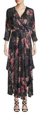 Catherine Malandrino Floral Chiffon Maxi Dress