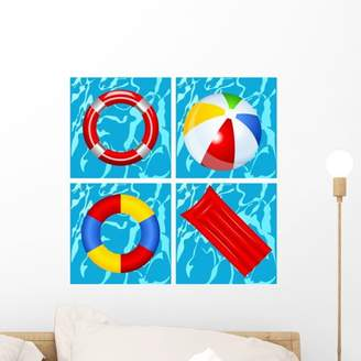 Mural Wallmonkeys LLC Toys Swimming Pool Wall by Wallmonkeys Peel and Stick Graphic (18 in H x 18 in W) WM44198