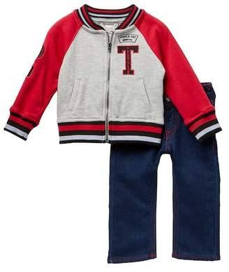 True Religion Marled Hook Up Jacket & Jeans Set (Baby Boys)