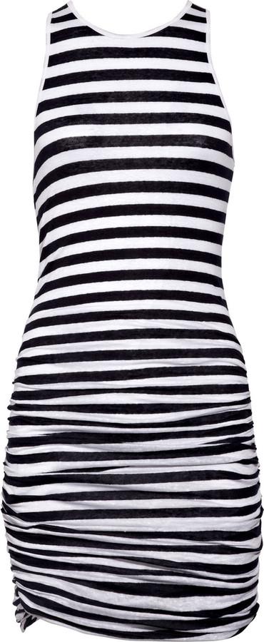 A.L.C. Striped stretch-jersey tank dress