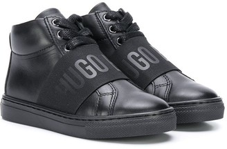Boss Kids high top lace up sneakers