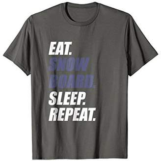 Eat Snowboard Sleep Repeat Funny Snowboarding Snow T-Shirt