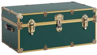 Pottery Barn Teen Vinyl Dorm Trunk, Forest Green with Rubbed Brass, Standard