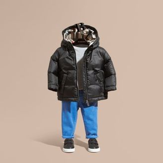 Burberry Down-filled Hooded Puffer Jacket $250 thestylecure.com