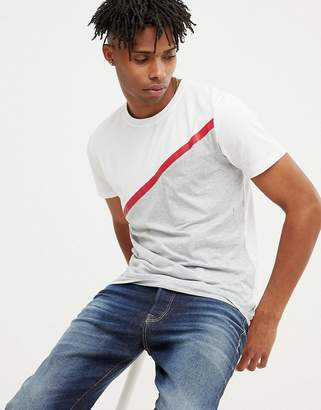 Jack and Jones Core T-Shirt With Taped Seam Panel Detail