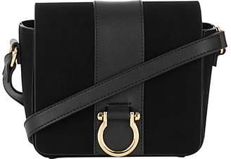 Warehouse Mini D-Ring Cross Body Bag, Black