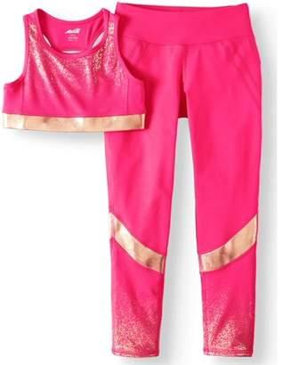 "Avia Foiled Sports Bra and Performance Legging (Little Girls & Big Girls)"""