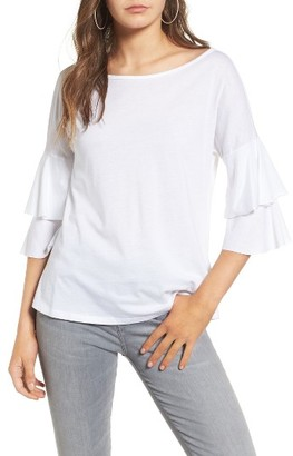 Women's Ten Sixty Sherman Ruffle Sleeve Tee $35 thestylecure.com