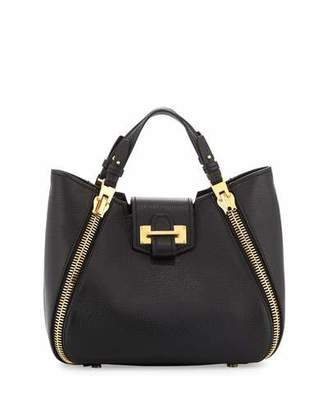 TOM FORD Sedgwick Mini Zipper Tote Bag, Black $2,290 thestylecure.com