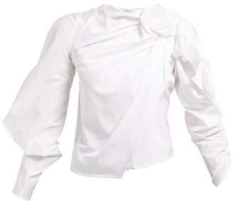 A.W.A.K.E. Mode A.w.a.k.e. Mode - Asymmetric Draped Top - Womens - White