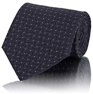 Line & Dot Cifonelli Men's Line-Dot Silk Jacquard Necktie